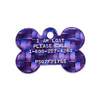 Pet Tags Lost Pet Recovery System - Purple Bone