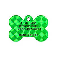 Pet Tags Lost Pet Recovery System - Green Bone