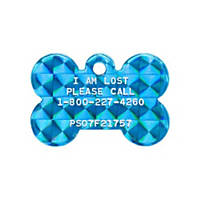 Pet Tags Lost Pet Recovery System - Blue Bone