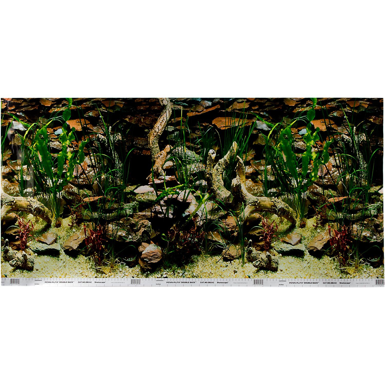 Petco Double Sided Shale Aquarium Background