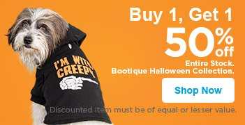 Buy 1, Get 1 50% off Entire Stock Bootique Halloween Collection - Shop Now