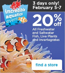 incredible aquatics event, Feb 5-7 - find a store