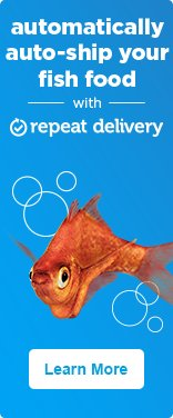 Automatically auto-ship your fish food with repeat delivery - learn more