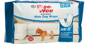 Wee-Wee Male Dog Wraps