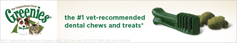 Greenies the #1 vet-recommended dental chews and treats