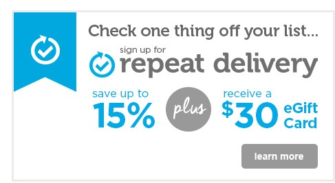 check one thing off your list with Repeat Delivery - learn more