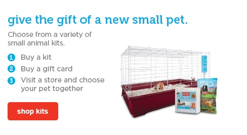give the gift of a new small pet - shop kits