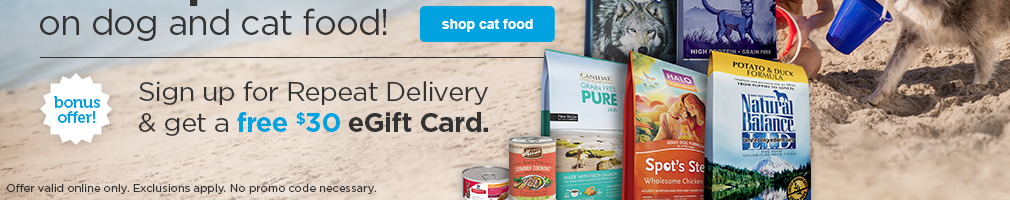 Save up to 20% off cat food - shop now