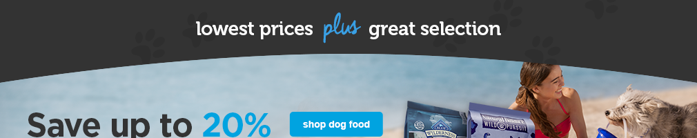 Save up to 20% off dog food - shop now
