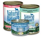 Natural Balance Dog Canned Formulas