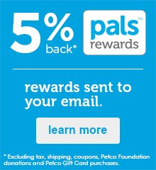 earn 5% back with pals rewards - learn more