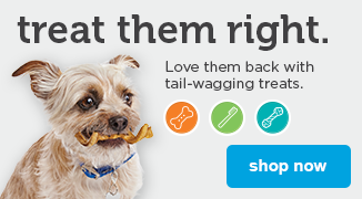 Treat them right. Love them back with tail-wagging treats - shop now