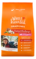 WholeHearted chicken & pea - small breeds/adult