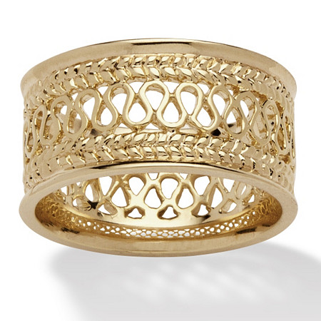 Open Weave Decorative Band in 14k Gold-Plated