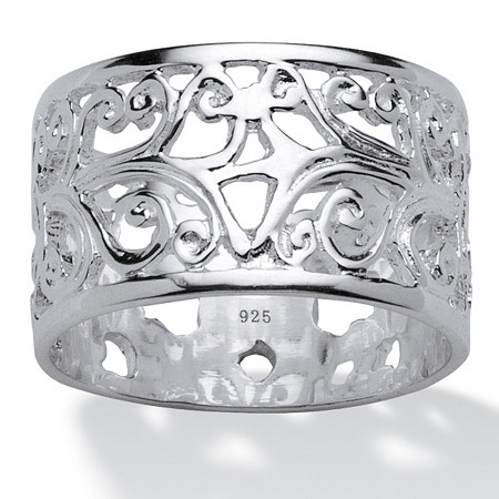 Filigree Band in Sterling Silver