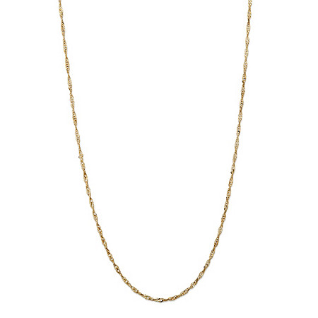 1.3 mm Rope Chain 20 in 10k Gold