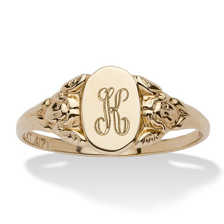 10k Yellow Gold Signet I.D. Ring