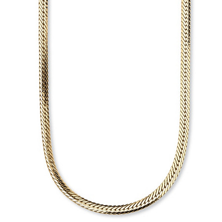 Herringbone Chain in Yellow Gold Tone 20