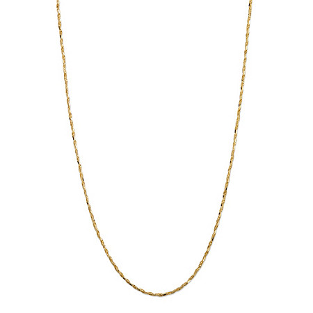14k Yellow Gold Tornado-Link Necklace 24