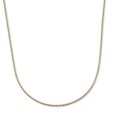 14k Yellow Gold Box-Link Chain Necklace 18