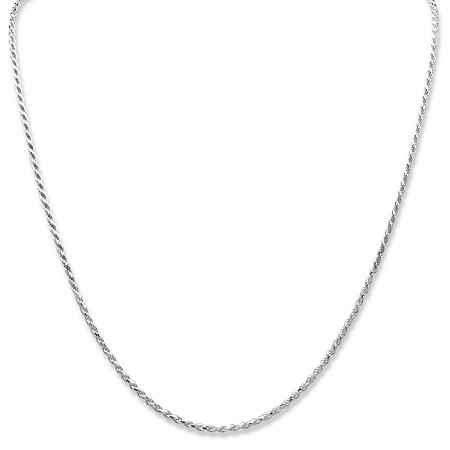 Sterling Silver Diamond-Cut Rope Chain Necklace 20