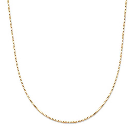 10k Yellow Gold Venetian Box Chain Necklace 16