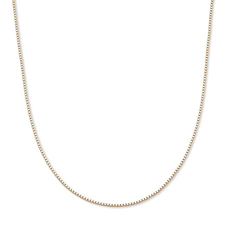 10k Yellow Gold Venetian Box-Link Chain Necklace 20