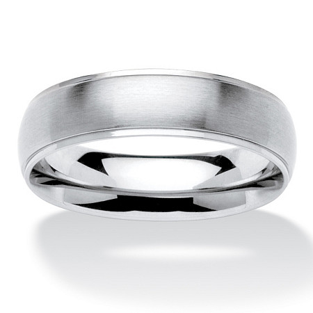 Men's Stainless Steel Comfort-Fit Wedding Band Ring