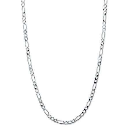 Figaro-Link Chain in Sterling Silver 20