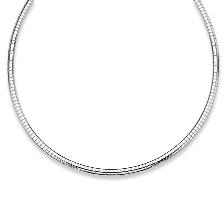 Sterling Silver Omega-Link Necklace 16