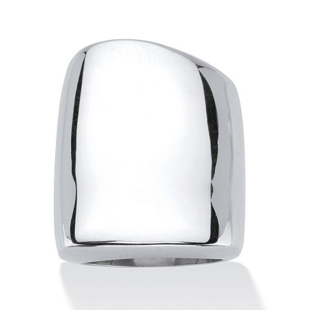 Sterling Silver Free-Form Square Ring