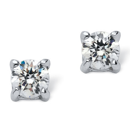 .50 TCW Round Cubic Zirconia Stud Earrings in Sterling Silver