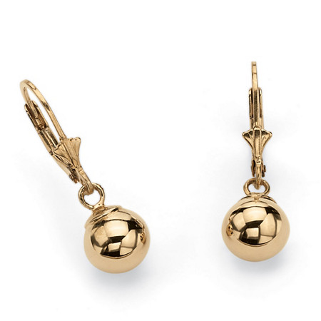 18k Yellow Gold over Sterling Silver Drop Earrings