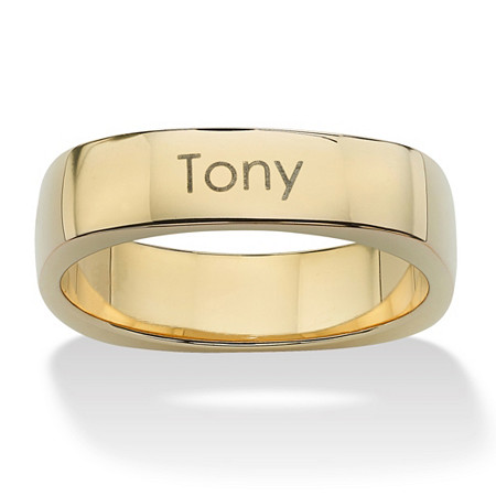 18k Gold over Sterling Silver Personalized Keepsake Ring