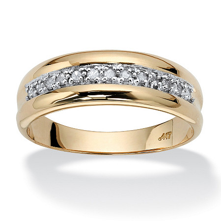 Men's 1/5 TCW Round Diamond Wedding Band in 10k Gold