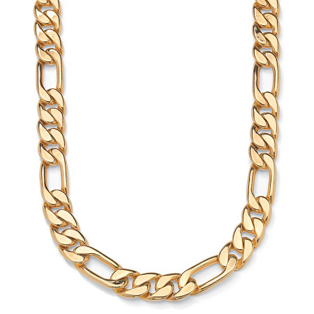 Figaro-Link Necklace in Yellow Gold Tone 24