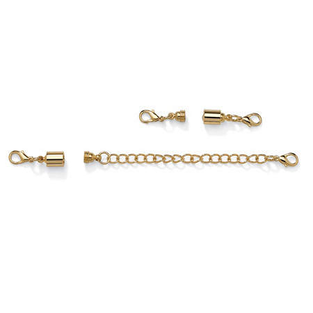 Magnetic Clasps and Chain Extender Set in Yellow Gold Tone