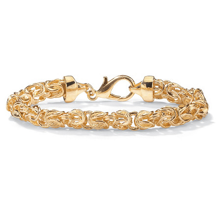 Byzantine Link Bracelet in Yellow Gold Tone 9