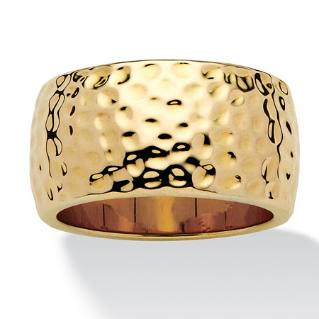 14k Gold-Plated Hammered-Style Band