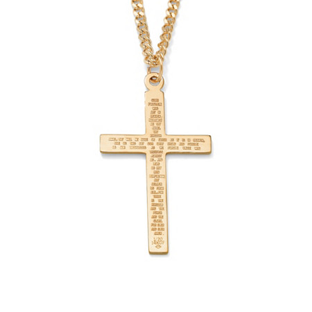 Lord's Prayer Pendant Gold Filled and Gold Ion Plated Chain 24