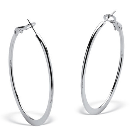 Stainless Steel Hoop Pierced Earrings