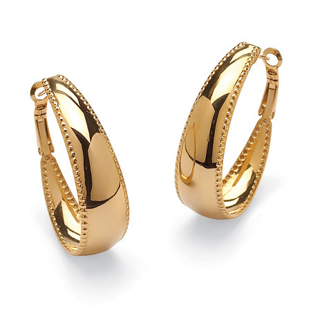 Gold ION-Plated Stainless Steel Hoop Earrings