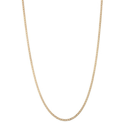 10k Yellow Gold Double Curb-Link Necklace 20