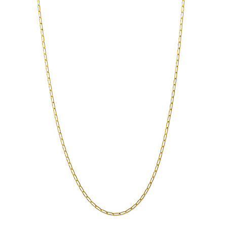 10k Yellow Gold Elongated 1.9mm Curb-Link Necklace 18