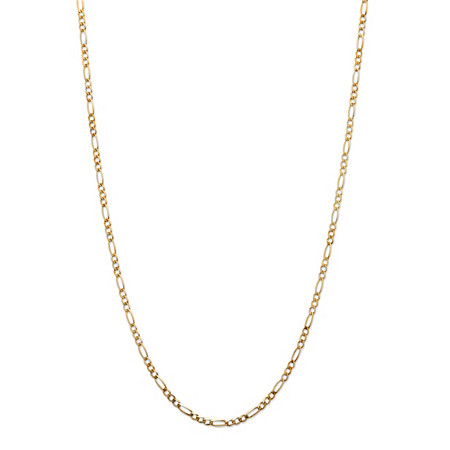 10k Yellow Gold Figaro-Link Necklace 20