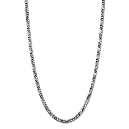 Curb-Link Necklace in Stainless Steel 22