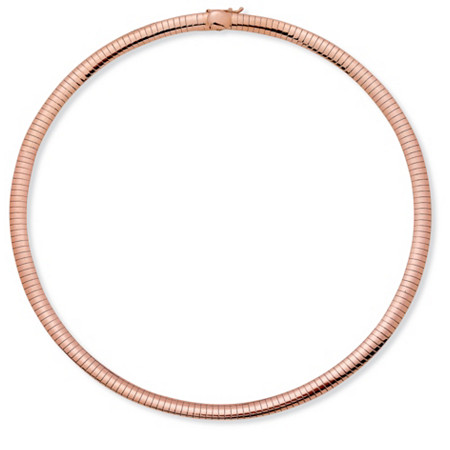 Rose Gold-Plated Omego-Link Choker Necklace 18