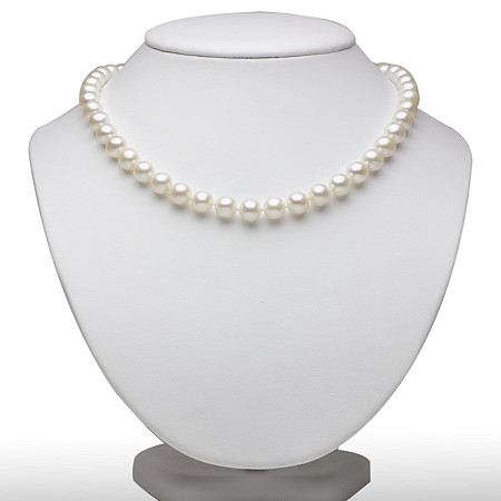 Cultured Freshwater Pearl Necklace in Sterling Silver