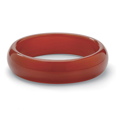Genuine Red Jade Bangle Bracelet 8 1/2