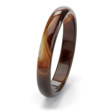 Genuine Brown Chalcedony Bangle Bracelet 9